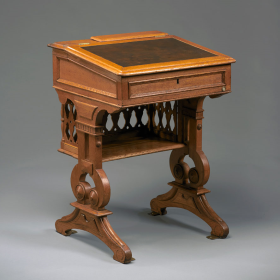 This 1873 desk was first used the same year that the House formally limited the lottery to once per Congress.
