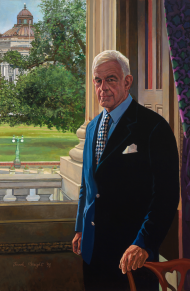 Speaker Thomas Foley's portrait was adorned with black mourning swags following his 2013 death.