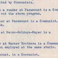 House Records: Primary Sources about Communism