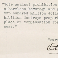 House Records: Primary Sources about Prohibition
