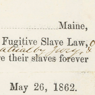 House Records: Primary Sources about Slavery