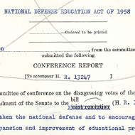 House Records: Primary Sources about Education