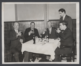 Representatives Drink Glasses of Beer