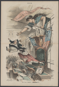 Thomas Brackett Reed depicted in a political cartoon.