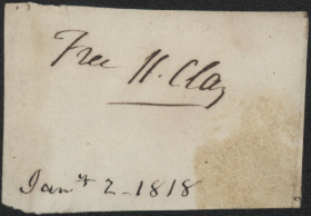Henry Clay provided this signature in 1818, during his second period serving as Speaker of the House.