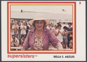 Bella Abzug Supersisters Card
