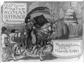 National American Woman Suffrage Association Program Cover
