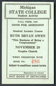 Ruth Bryan Owen Lecture Ticket