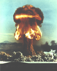 "Mushroom Cloud from Atomic Weapon ""Grable"""
