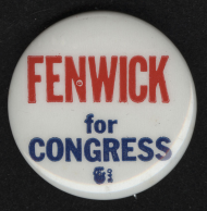 Millicent Hammond Fenwick Lapel Pin