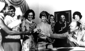 President Gerald R. Ford Signing Women's Equality Day Proclamation
