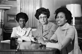 Shirley Chisholm, Gladys Spellman, and Yvonne Burke