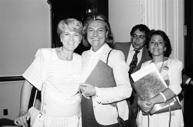 Geraldine Ferraro, Barbara Kennelly, Leon Panetta, and Barbara Boxer
