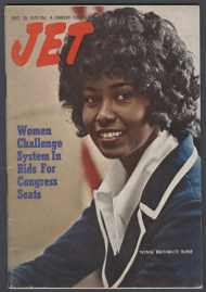 1972 Jet magazine cover featuring Yvonne Burke.