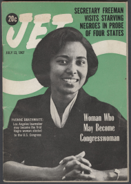 Jet magazine cover from 1967 featuring Yvonne Burke.