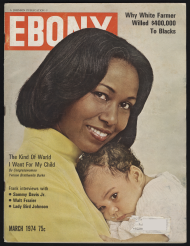 1974 Ebony magazine cover featuring Burke as a mother.