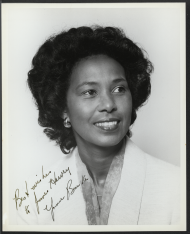 Autographed photo of Yvonne Burke.