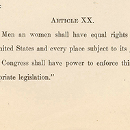House Records: Primary Sources about Equal Rights Amendments