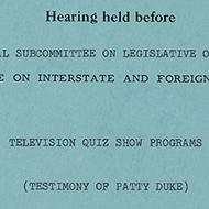 House Records: Primary Sources about Hollywood