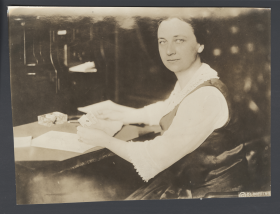 Winnifred Huck in Her Office
