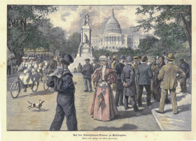 Auf der Pennsylvania - Avenue in Washington Print