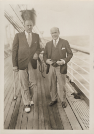 "Representative <a href=""/People/Detail/8797"" title=""Robert Low Bacon"">Robert Low Bacon</a> of New York, pictured on the left, enjoys a relaxing boat trip."