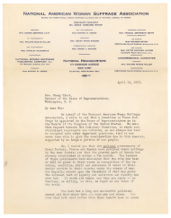 Petition for Woman Suffrage Committee, April 10, 1917