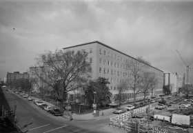 Black and white photograph of the Ford Building