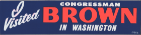 Brown Campaign Bumper Sticker