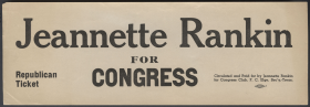 Jeannette Rankin for Congress Window Sticker
