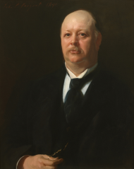 "Reed's supporters raised the money for renowned artist John Singer Sargent to paint this portrait of the Speaker in 1891. Upon seeing it, Reed is said to have quipped, ""Well, I hope my enemies are satisfied."""