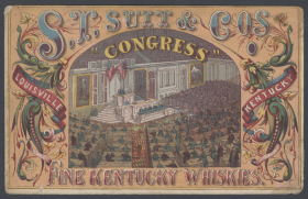 S.T. Suit and Co.'s Old Kentucky Whiskies Trade Card