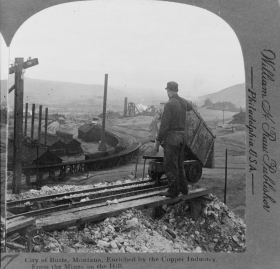 The city of Butte, Montana, sustained itself on the copper industry, and essentially operated as a company town.