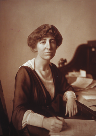 Jeannette Rankin, pictured here during her first year in office, took up the concerns of miners in her home state as one of her first major legislative issues.