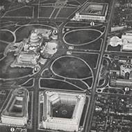 Aerial View of Capitol Hill, Facing North