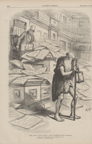 Thomas Nast Cartoon reacting to the Credit Mobilier scandal