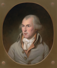 Unveiled in 2003, Bradley Stevens' portrait of James Madison replaced the House's Gilbert Stuart portrait of the Founding Father and important early Representative that was destroyed in an 1851 fire.