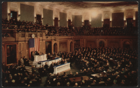 President Harry Truman gives the State of the Union Address in 1950