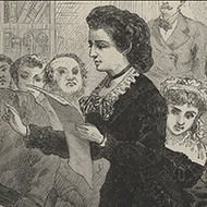 Victoria Woodhull Testifying Before a House Committee
