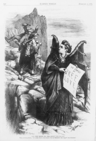 Victoria Woodhull Depicted as the Devil