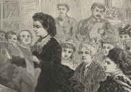 Detail of Victoria Woodhull, Elizabeth Cady Stanton, and Tennessee Claflin