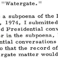 House Records: Primary Sources about the Watergate Affair