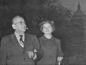 Representative George Andrews of Alabama and his wife Elizabeth, parents of Jane Andrews Hinds, photographed in 1971.