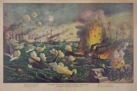 Battle of Manila Bay Lithograph