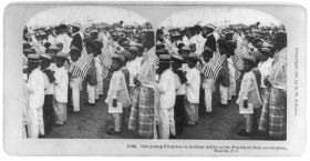 Filipino Children Holding Flags