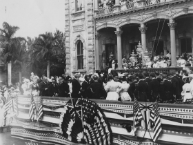 Iolani Palace During the Annexation of Hawaii