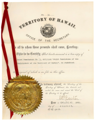 Resolution of the Territorial Legislature of Hawaii
