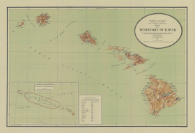 Map of the Territory of Hawaii