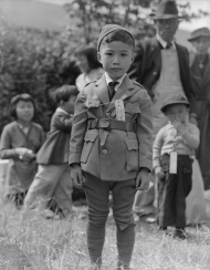 A Japanese-American Child Wearing an Identification Tag