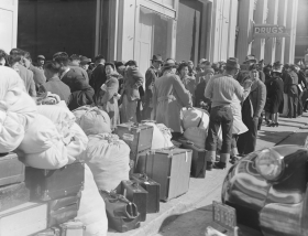 Residents Awaiting Transportation to Internment Camps